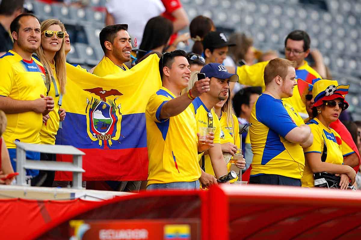 Aficionados de la selección de Ecuador de fútbol