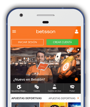 Captura de pantalla de smartphone de Betsson