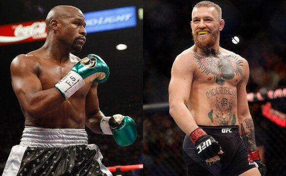 Mayweather a la derecha de la imagen, se enfrentará como favorito en las apuestas a McGregor.