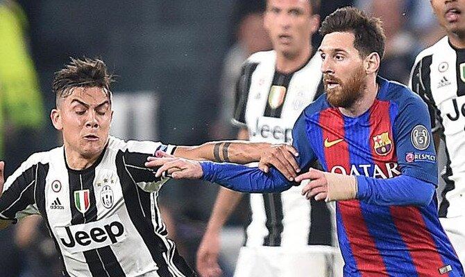 Messi (derecha) y Dybala (izquierda) serán determinantes en las cuotas del Barcelona vs Juventus.