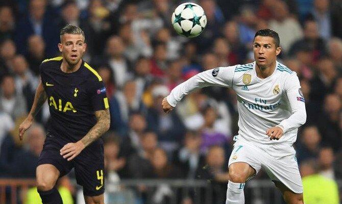 Cristiano (derecha) será fundamental en las cuotas del Tottenham vs Real Madrid.