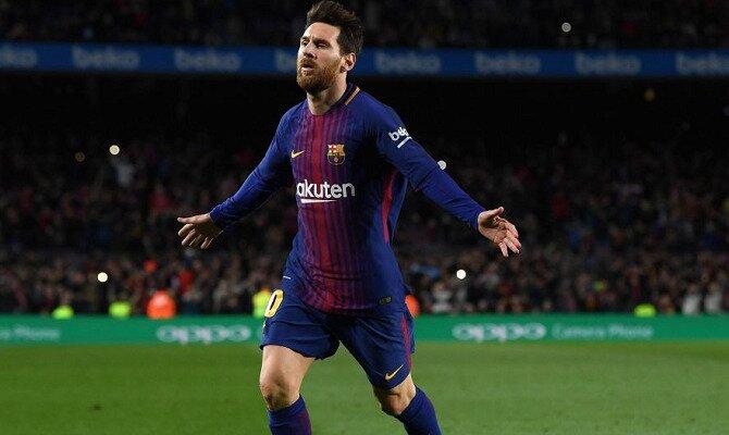 Messi celebra un gol. Conoce las cuotas del Chelsea FC vs FC Barcelona