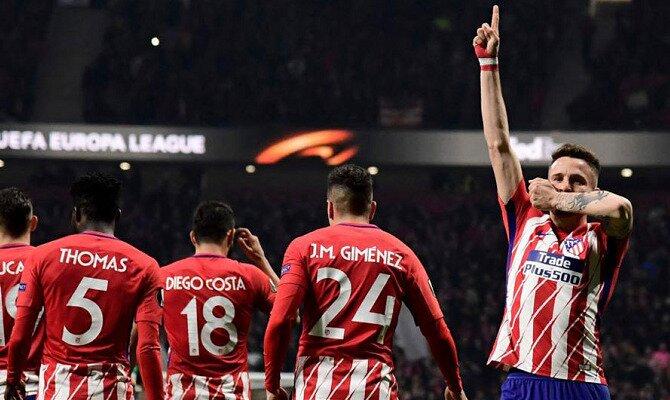Saúl celebra un gol ante el Real Madrid. Conoce las cuotas del Real Madrid vs Atlético de Madrid.