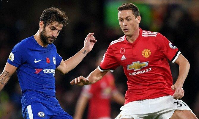 Fábregas (izquierda) y Matic son fundamentales en las cuotas del Chelsea FC vs Manchester United.