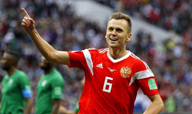 Cherysev celebra un gol con su selección. Conoce las cuotas del Uruguay vs Rusia.