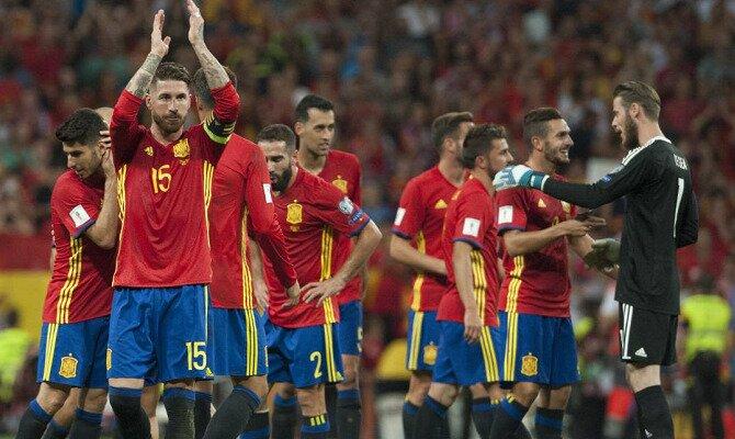 Ramos, Koke, De Gea y otros más celebran un triunfo. Conoce las cuotas del España vs Suiza.