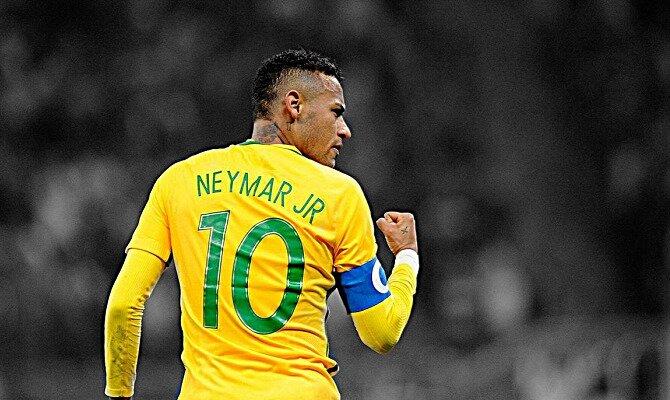 Neymar aprieta el puño celebrando un gol. Conoce las cuotas del Brasil vs Suiza.