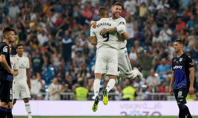 Sergio Ramos y Benzema del Real Madrid