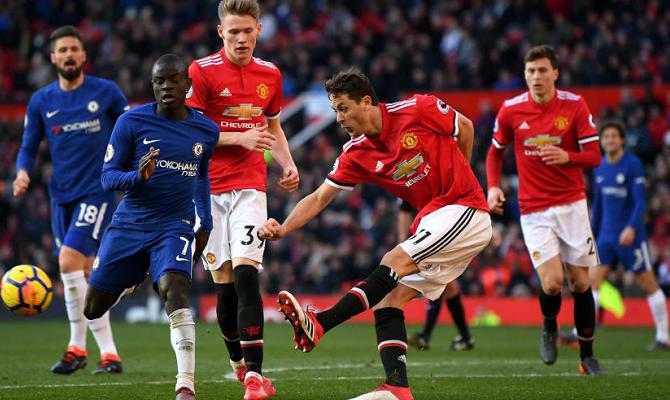 Partido entre Manchester United y Chelsea