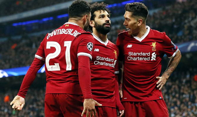 Delanteros del Liverpool