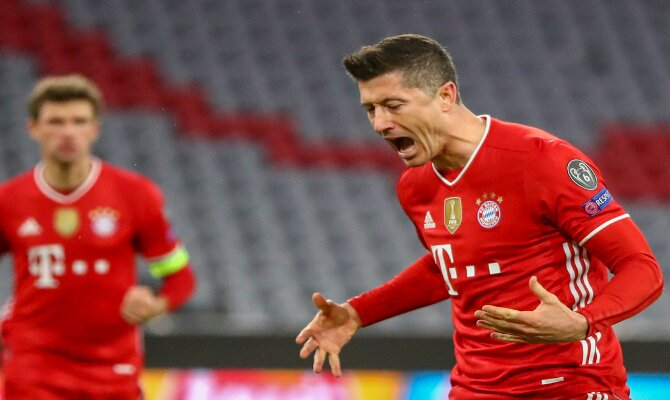 Lewandowski, estrella del Bayern Múnich, uno de los favoritos en las cuotas de la Champions League