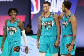 Imagen de varios jugadores de los Grizzlies. Aprovecha nuestros picks para Warriors vs Grizzlies