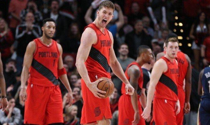 Varios jugadores de Portland en la imagen. Revisamos las cuotas del Blazers vs Lakers