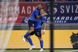 Ciro Immobile celebra un gol con la camiseta de Italia. Cuotas de la jornada 1 de la Euro 2020.