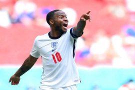 Imagen de Raheem Sterling gritando en un partido. Los mejores picks de la jornada 2 de la Euro 2020.